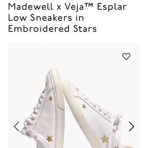 Madewell Shoes - Madewell x Veja White sneakers with gold stars